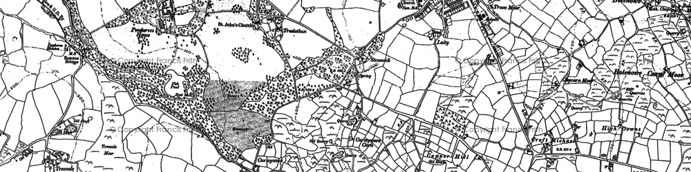 Old map of Tolcarne in 1877