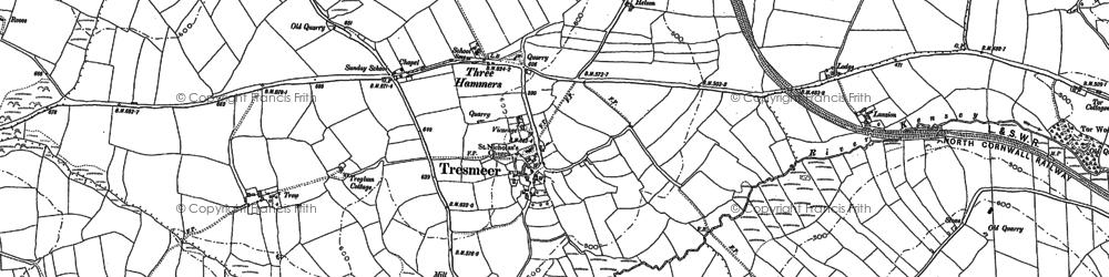 Old map of Splatt in 1882