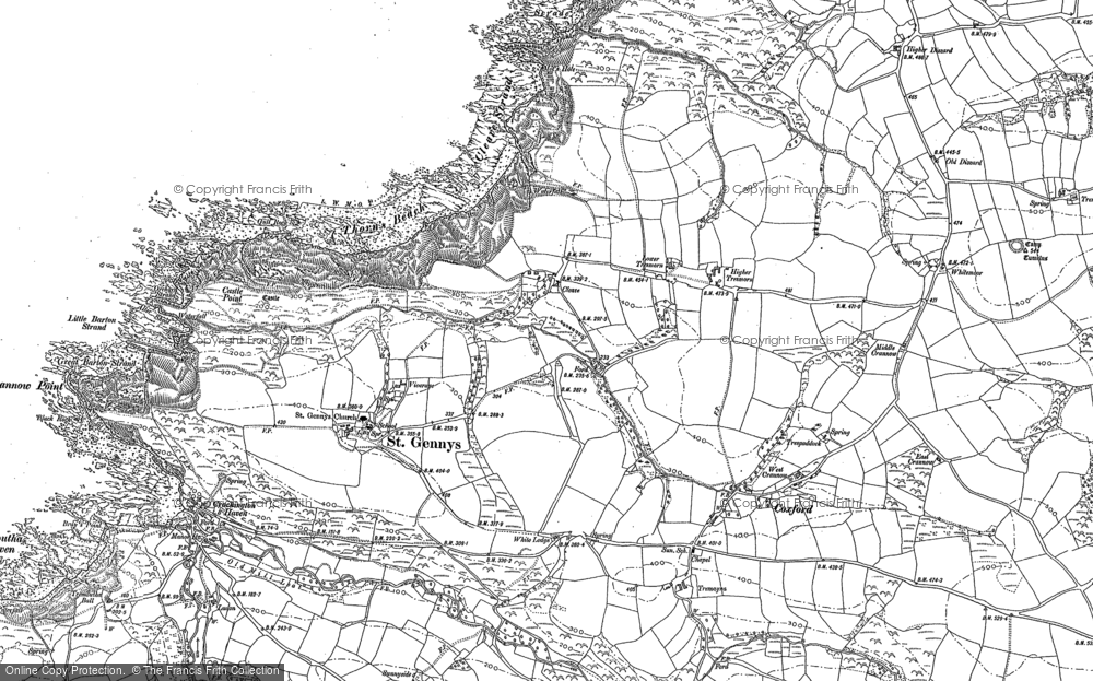 Old Map of Historic Map covering Whitemoor in 1905