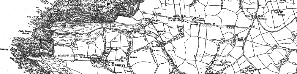 Old map of Whitemoor in 1905