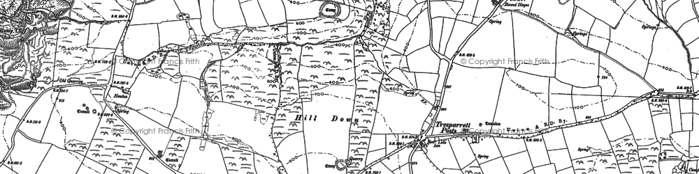 Old map of Pencuke in 1882