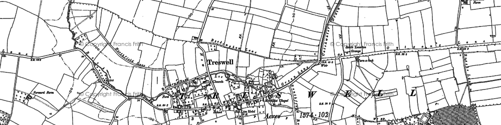 Old map of Lee Beck in 1884