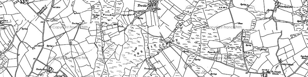 Old map of Aberdinas in 1906