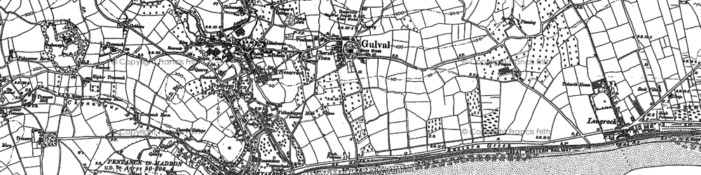 Old map of Western Cressar in 1877