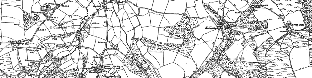 Old map of Afon Cwm-Waun-gron in 1905