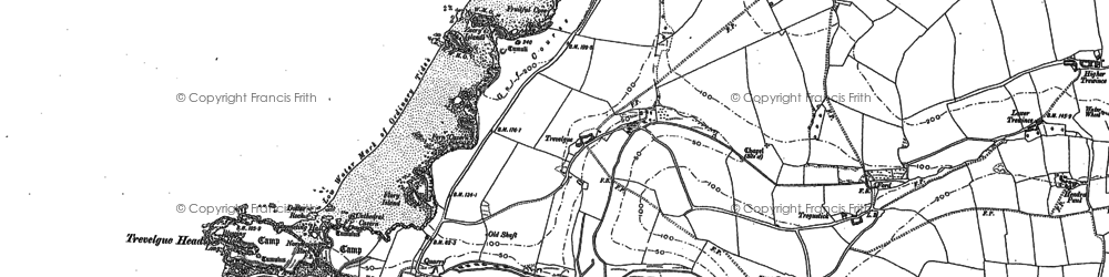 Old map of Whipsiderry in 1880
