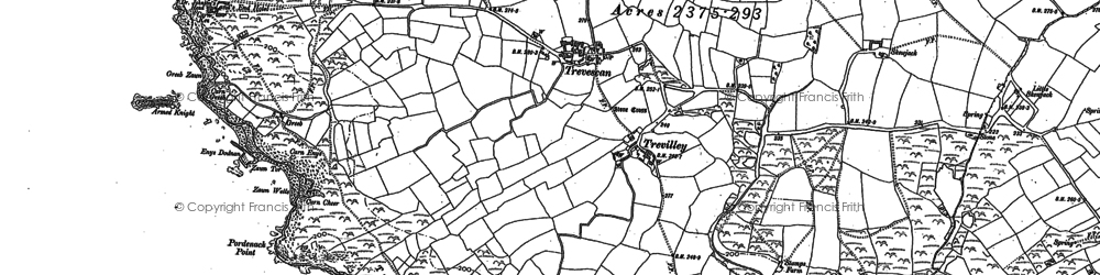 Old map of Armed Knight in 1906