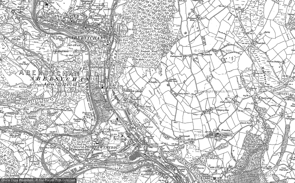 Old Map of Historic Map covering Lasgarn in 1899