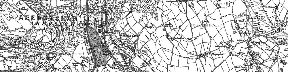 Old map of Lasgarn in 1899