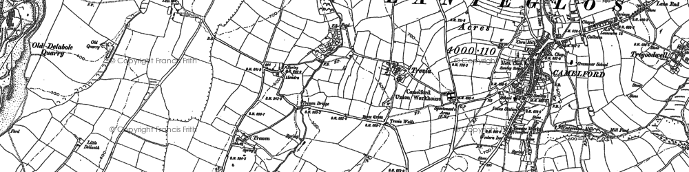 Old map of Hendra in 1905