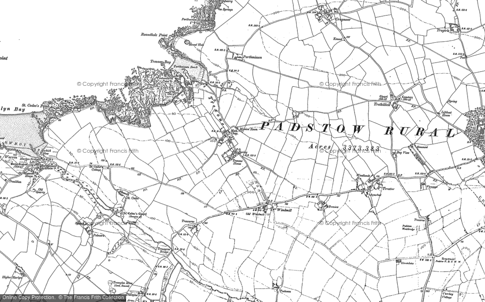 Map of Trevone, 1880 - 1905