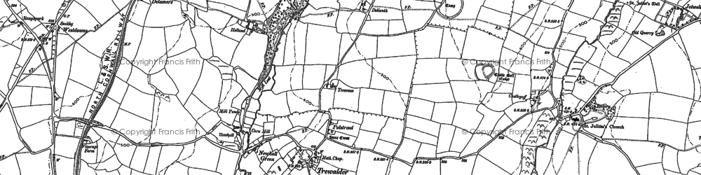 Old map of Treforda in 1905