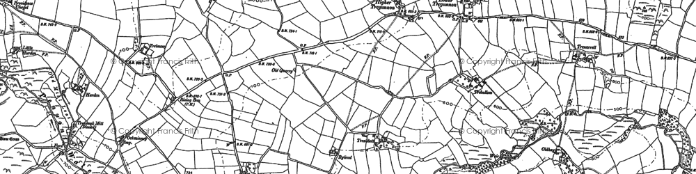 Old map of South Carne in 1882