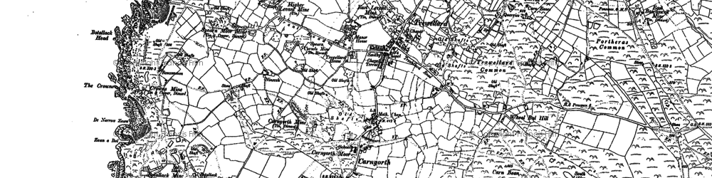 Old map of Carnyorth in 1906