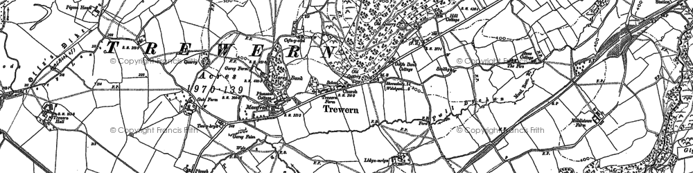Old map of Yewtree Ho in 1900