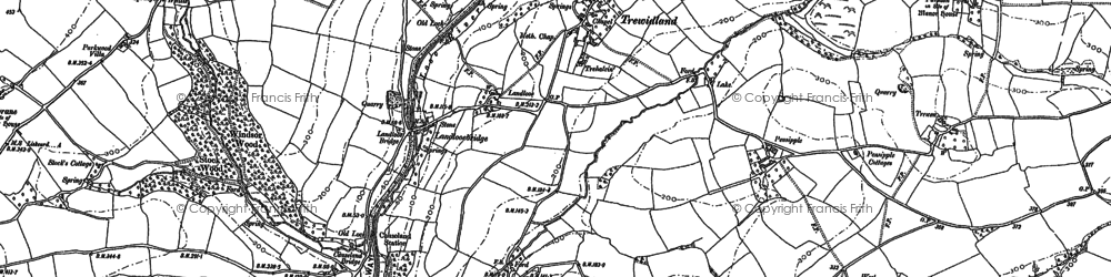Old map of Windsor Wood in 1882