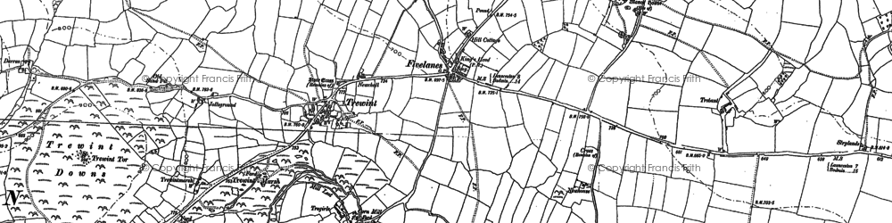 Old map of Fivelanes in 1882