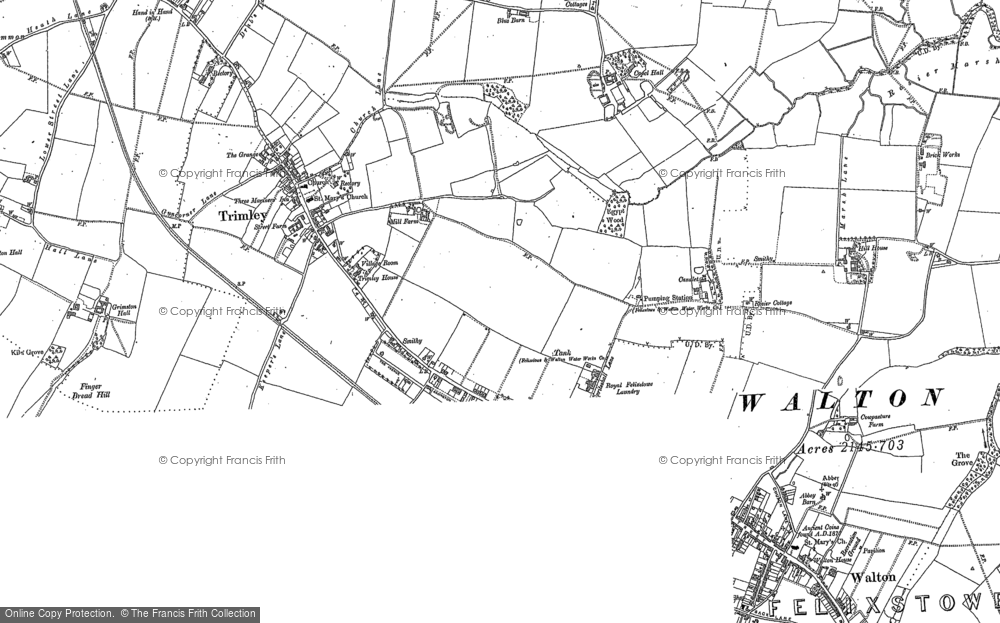 Old Maps of Trimley St Mary Francis Frith