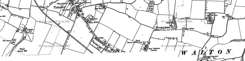 Old map of Trimley St Mary in 1881