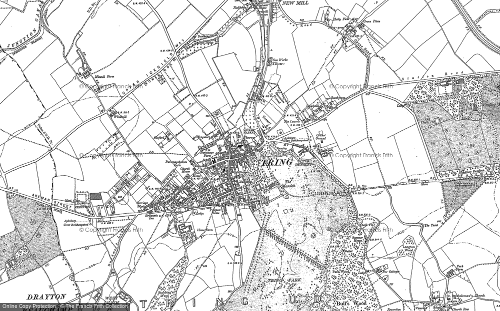 Old Map of Tring, 1896 - 1922 in 1896