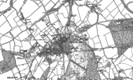 Old Map of Tring, 1896 - 1922