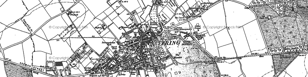 Old map of Tring in 1896