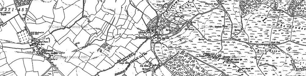 Old map of Wills Neck in 1886
