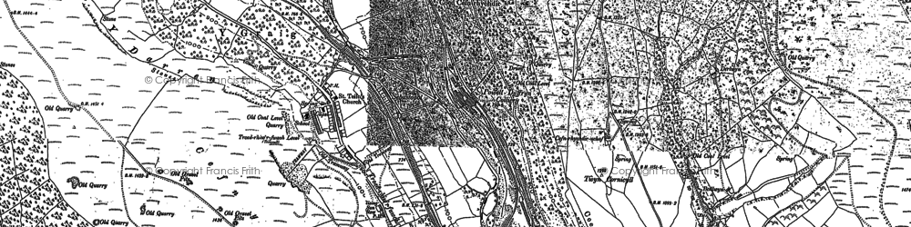 Old map of Troedrhiwfuwch in 1915
