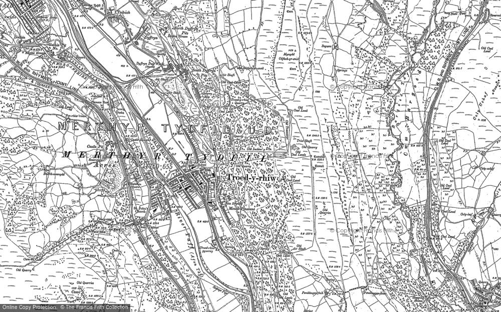 Old Map of Troedyrhiw, 1898 - 1915 in 1898