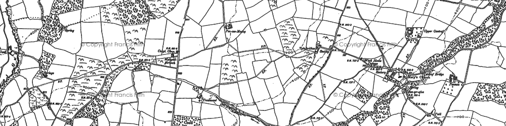 Old map of Allt Ddu in 1882
