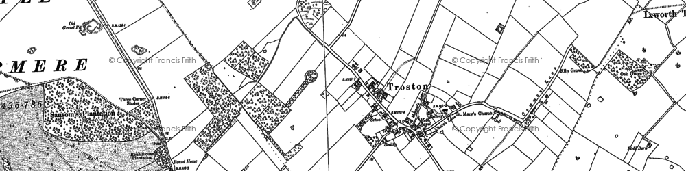 Old map of Troston in 1882