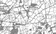 Old Map of Trotshill, 1884