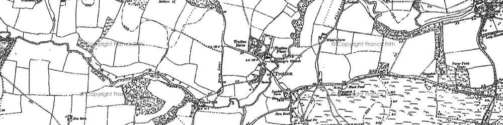 Old map of Trotton in 1896