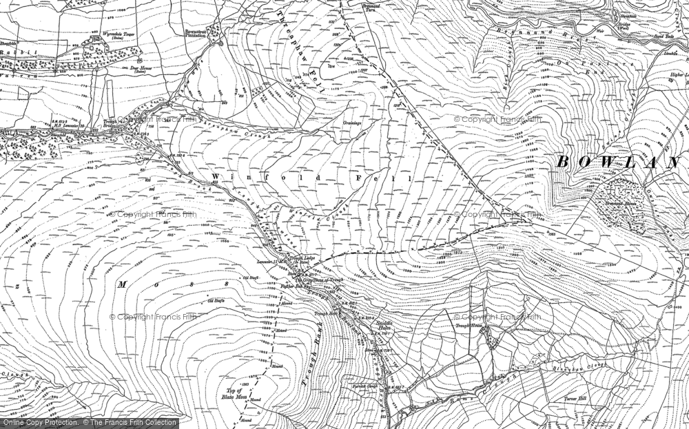 Old Map of Historic Map covering Langden Brook in 1907
