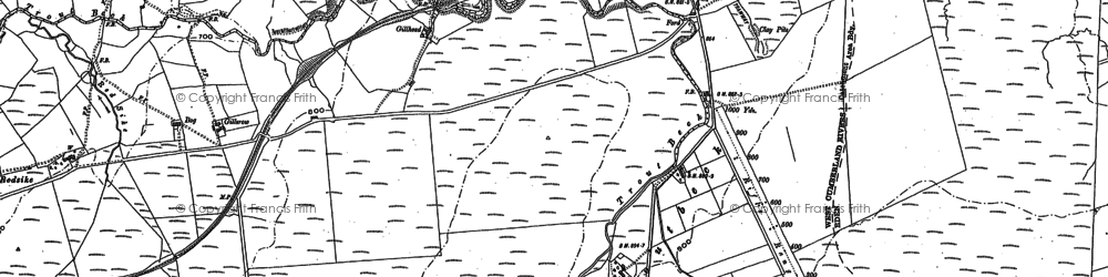 Old map of Lane Head in 1898