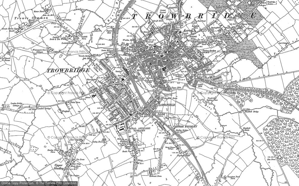 Map of Trowbridge, 1922
