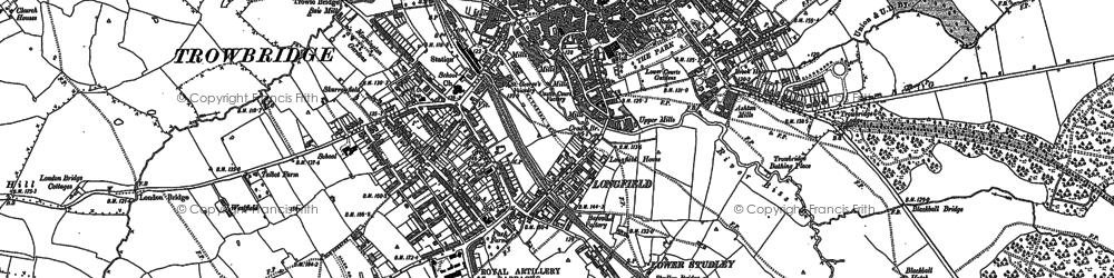 Old map of Trowbridge in 1922