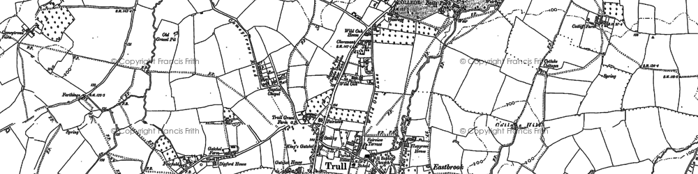 Old map of Trull in 1887