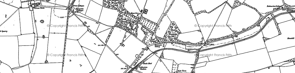 Old map of Wickfield Wood in 1898