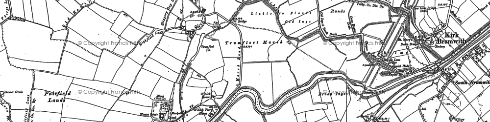 Old map of Wrancarr Ho in 1891