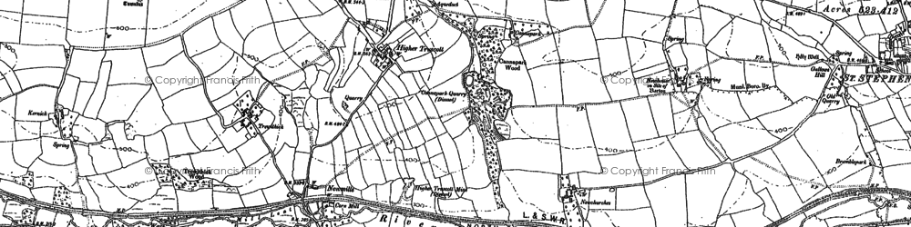 Old map of Newmills in 1882
