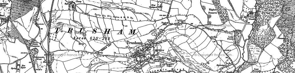 Old map of Whetcombe Barton in 1887