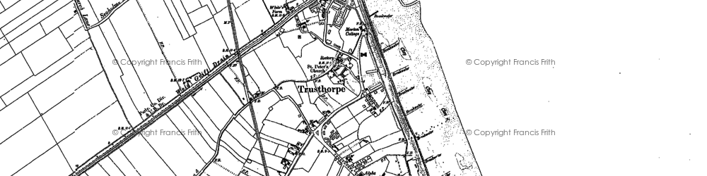 Old map of Bamber's Br in 1888