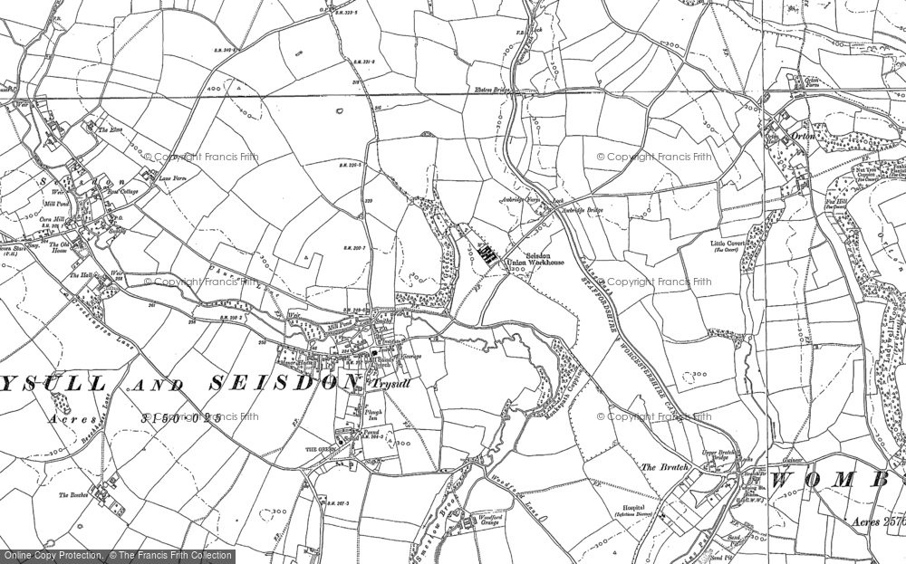 Old Map of Historic Map covering Awbridge Br in 1900