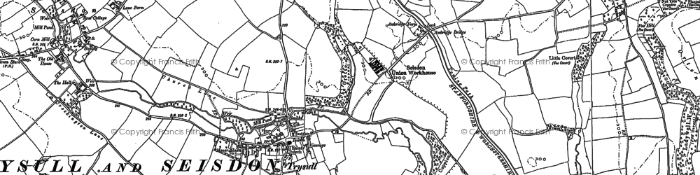 Old map of Awbridge Br in 1900