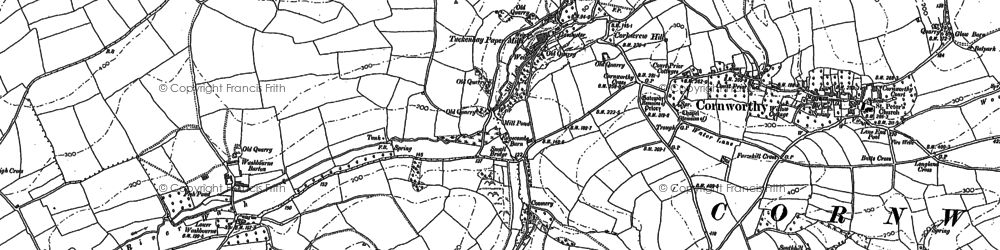 Old map of Yetson in 1886