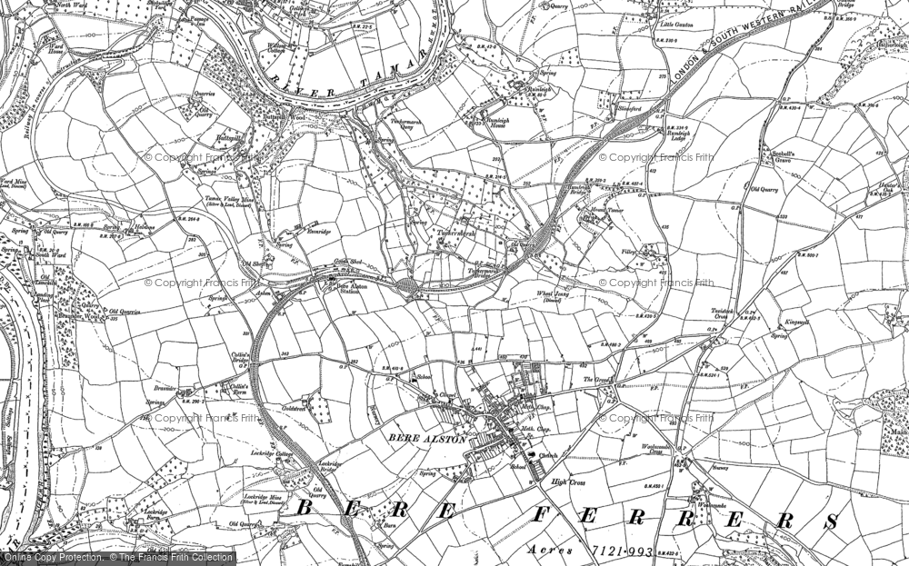 Old Map of Historic Map covering Ashen in 1905