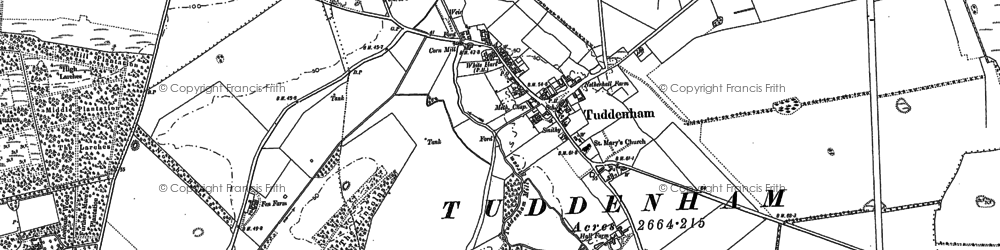 Old map of Woodsway Stud in 1882