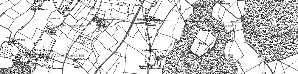 Old map of Ashfield in 1887