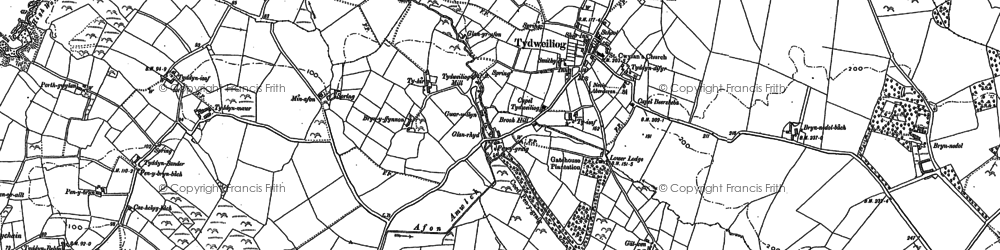 Old map of Tudweiliog in 1899